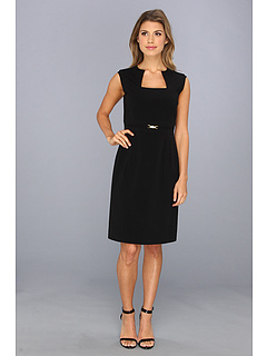 SALE! $42.99 - Save $85 on Tahari by ASL Yvette M Bi Stretch Dress (Black) Apparel - 66.41% OFF $128.00