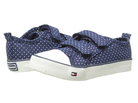 Tommy Hilfiger Kids - Ashley Velcro (Toddler/Little Kid/Big Kid) (Peacoat/White Dot) Girls Shoes