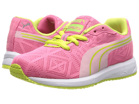 Puma Kids - Narita V2 Jr (Little Kid/Big Kid) (Hot Pink/Lime Punch/White) Girls Shoes