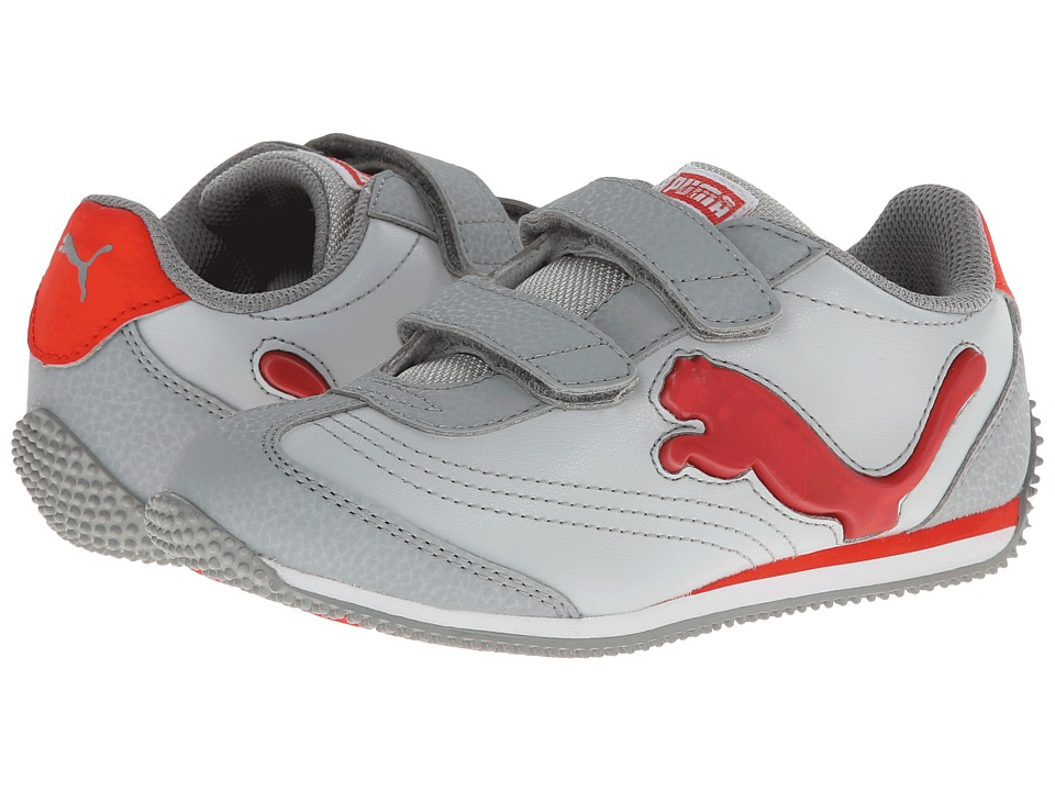Puma Kids - Speeder Illuminescent V (Toddler/Little Kid/Big Kid) (Gray Violet/Limestone Gray/Grenadine) Boys Shoes