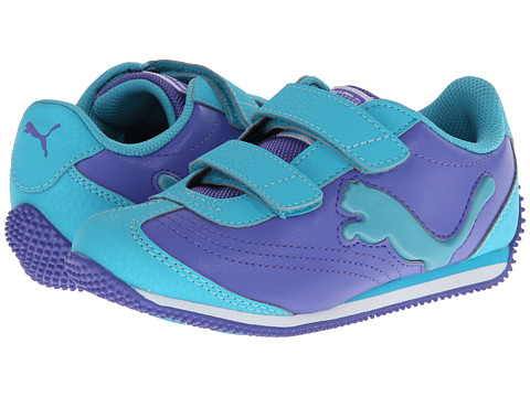 Puma Kids - Speeder Illuminescent V (Toddler/Little Kid/Big Kid) (Blue Iris/Scuba Blue) Girls Shoes