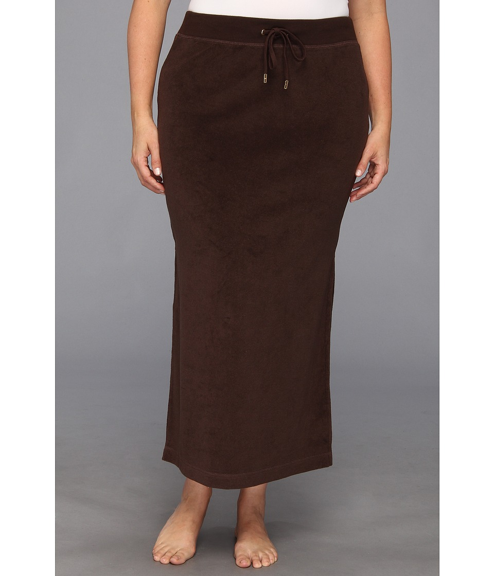 MICHAEL Michael Kors - Plus Size Terry Cloth Maxi Skirt w/ Side Slits (Chocolate) Women's Skirt