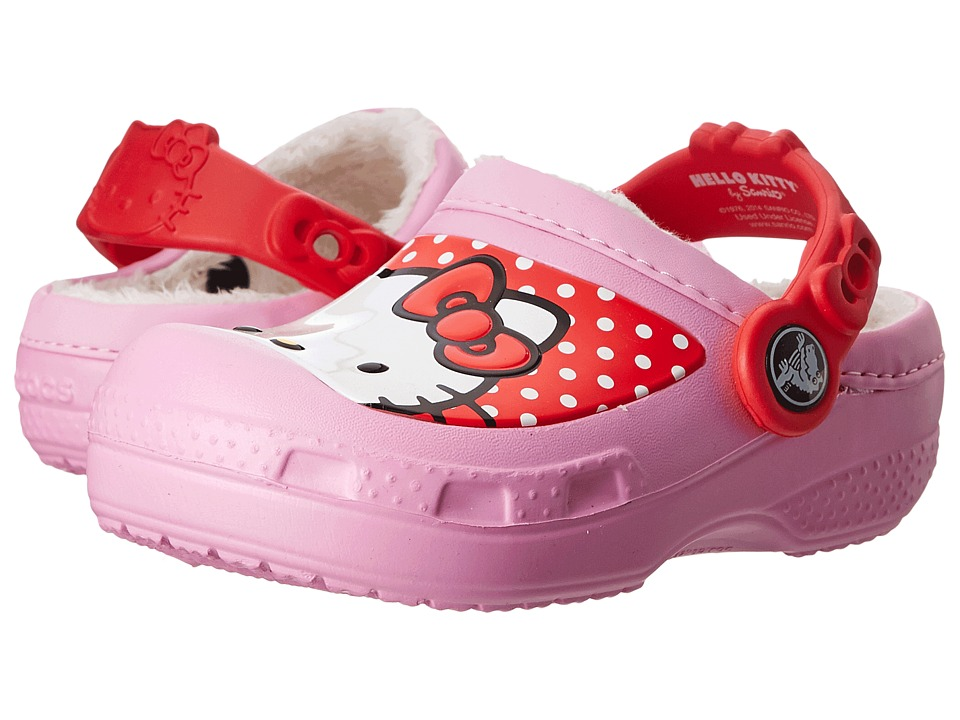 Crocs Kids - Hello Kitty Lined Clog (Toddler/Little Kid) (Carnation) Girls Shoes