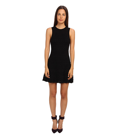 M Missoni - Sleeveless Crochet Knit Dress (Black) Women's Dress