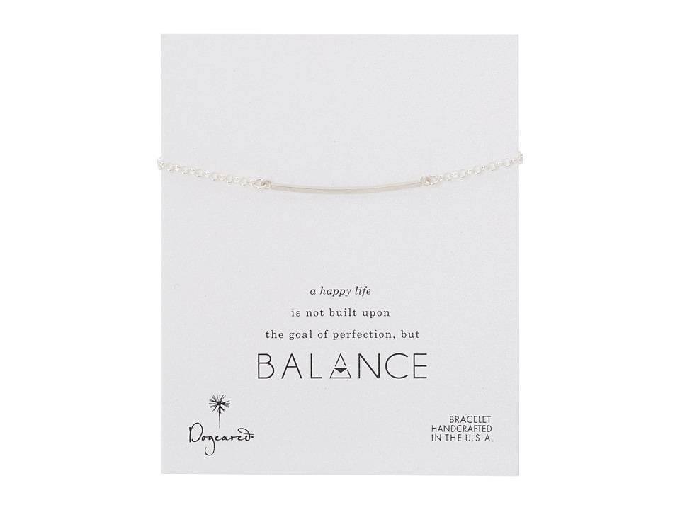 Dogeared - Balance Large Square Bar Bracelet (Silver) Bracelet
