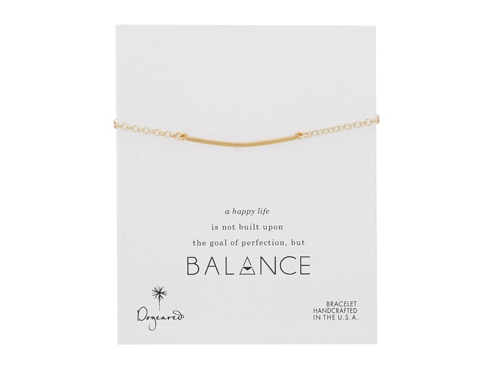 Dogeared - Balance Large Square Bar Bracelet (Gold) Bracelet