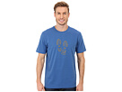 Life is good Outdoor Crusher Tee (Stamped Footprints Hike/Sapphire Blue)
