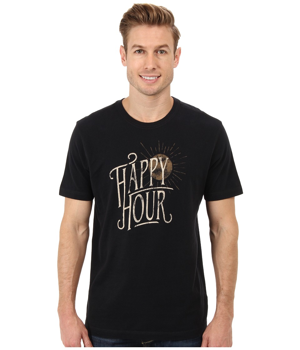 Life is good - Home Slice Creamy Tee (Night Black) Men's T Shirt