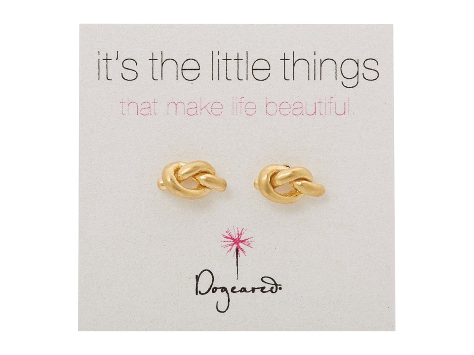 Dogeared - Little Things Simple Knot Studs (Gold) Earring