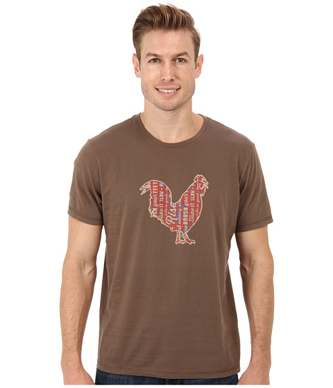 Life is good - Home Slice Sleep Tee (Boot Brown) Men's Pajama