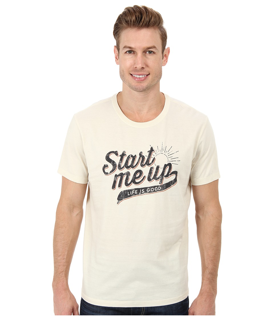 Life is good - Home Slice Sleep Tee (Start Me Up/Putty White) Men's Pajama