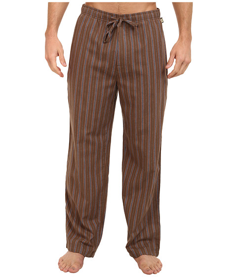 Life is good - Home Slice Classic Sleep Pant (Boot Brown Stripe) Men's Pajama