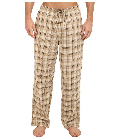 Life is good - Home Slice Classic Sleep Pant (Light Khaki Plaid) Men's Pajama