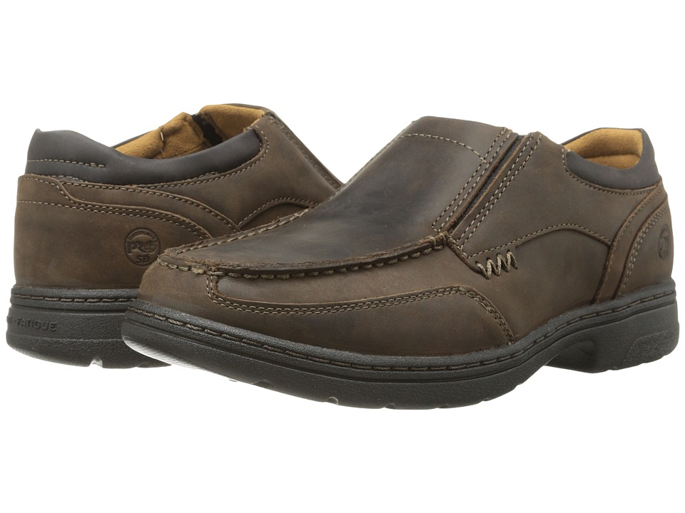 Timberland PRO - Branston Soft Toe Slip On ESD (Brown) Men's Work Boots