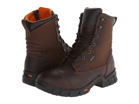 Timberland PRO - Excave 8 Soft Toe WP (Brown) Men's Work Boots