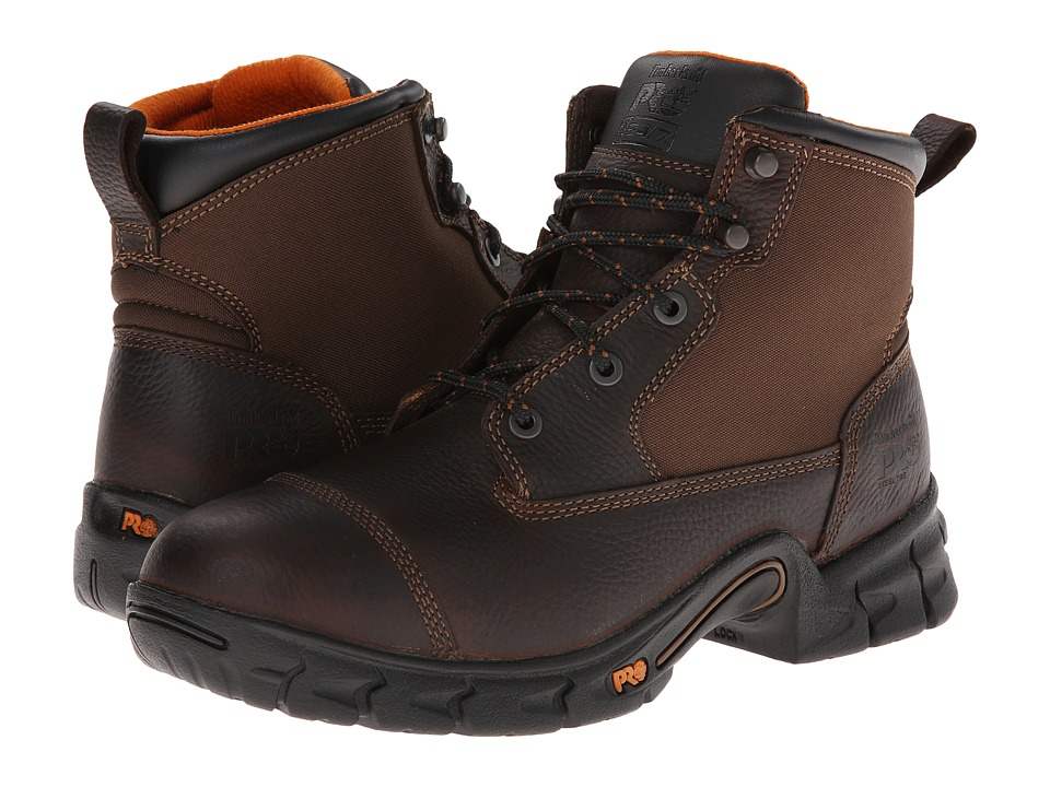 Timberland PRO - Excave 6 Steel Toe (Brown) Men's Work Boots