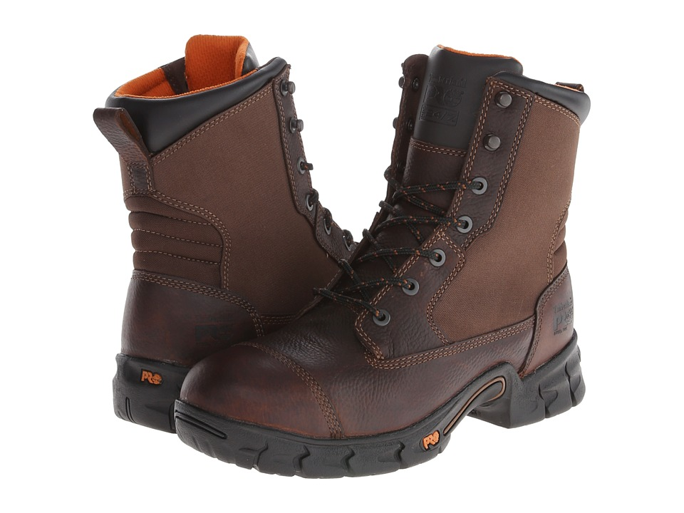 Timberland PRO - Excave 8 Steel Toe (Brown) Men's Work Boots