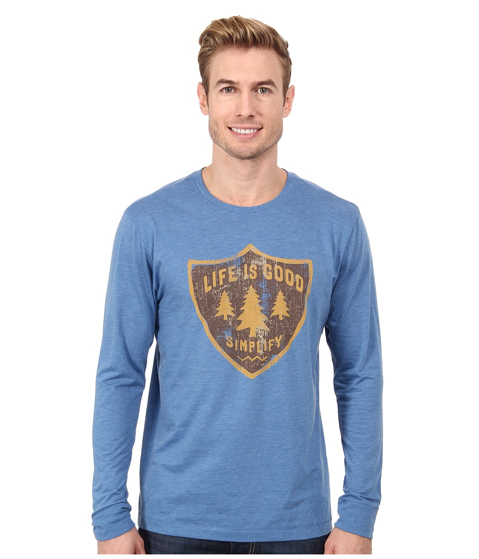 Life is good - Outdoor Cool L/S Tee (Extra Blue) Men