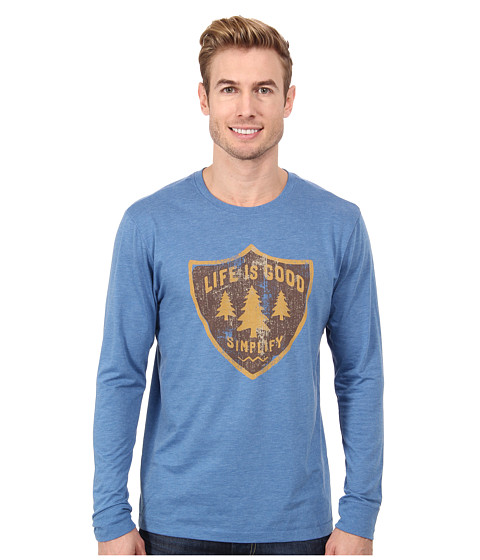 Life is good - Outdoor Cool L/S Tee (Extra Blue) Men's T Shirt