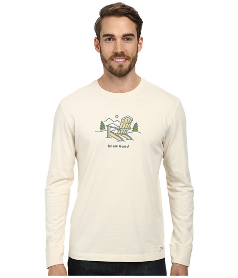 Life is good - Outdoor Crusher Long Sleeve (Snow Good/Putty White) Men's Long Sleeve Pullover