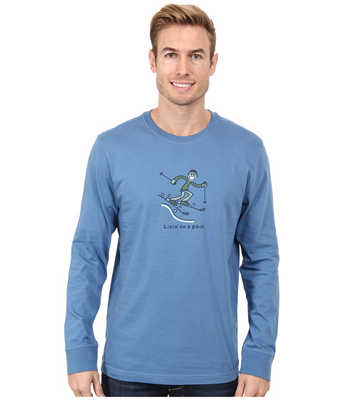Life is good - Outdoor Crusher Long Sleeve (Downhill Ski Jake/Extra Blue) Men