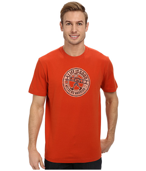 Life is good - Home Slice Crusher Tee (Heritage Ladder Jake/Fiery Orange) Men's T Shirt