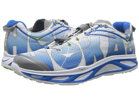 Hoka One One - Huaka (White/Blue/Lime) Men's Running Shoes