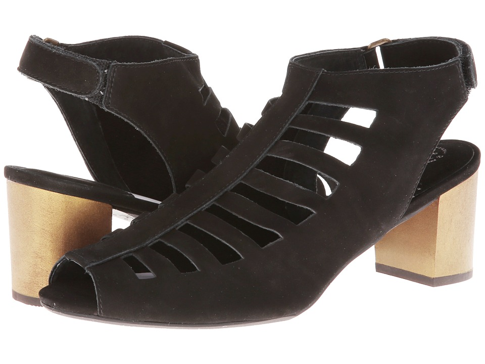 Johnston & Murphy - Kallie Cut Out (Black Nubuck) High Heels
