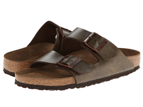 Birkenstock - Arizona Soft Footbed (Golden Brown Birko-Flor) Sandals