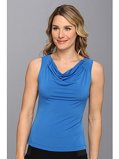 SALE! $17.99 - Save $21 on Calvin Klein Solid Drape Neck Cami (Aegean) Apparel - 53.87% OFF $39.00