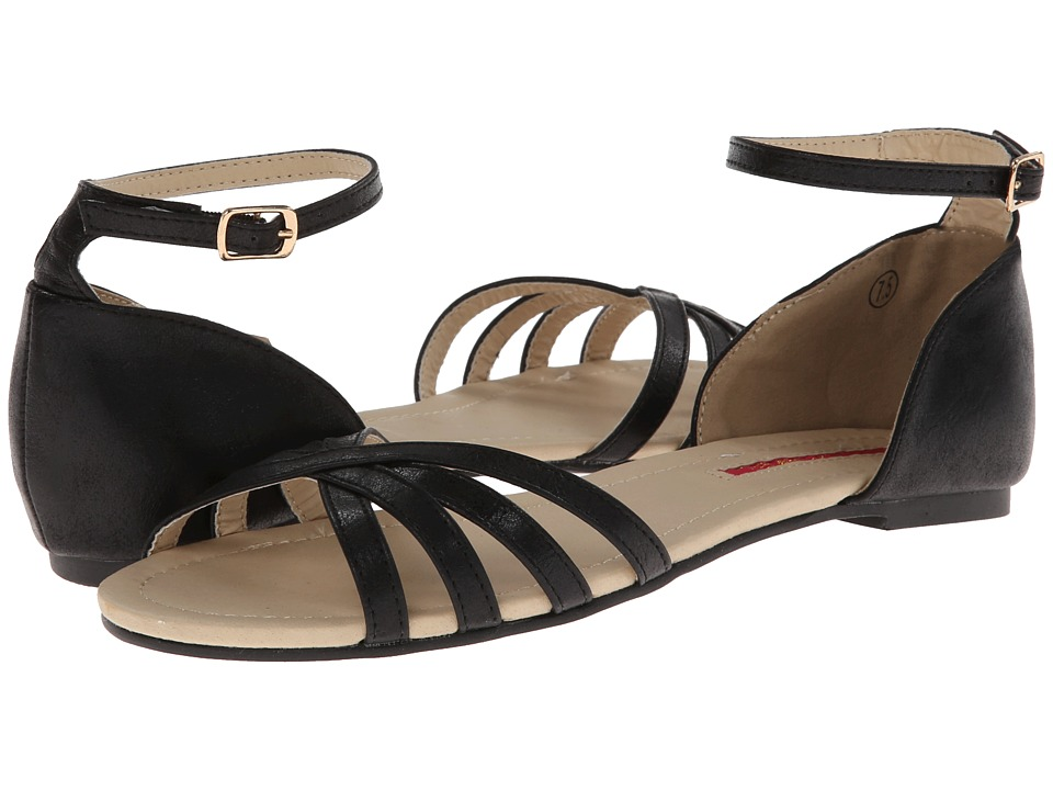 C Label - Love-5 (Black) Women's Sandals