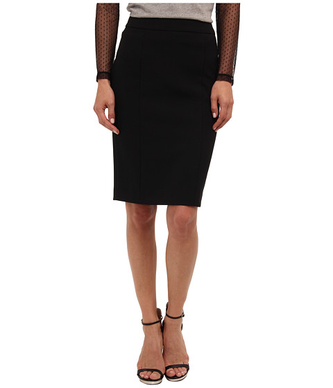 RED VALENTINO - Cady Tech Pencil Skirt (Black) Women's Skirt