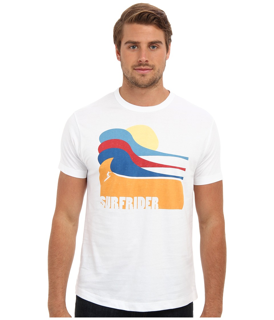 Tailgate Clothing Co. - Color Waves Tee (White) Men's T Shirt