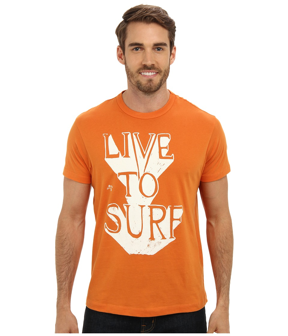 Tailgate Clothing Co. - Live to Surf Tee (Burnt Orange) Men's T Shirt