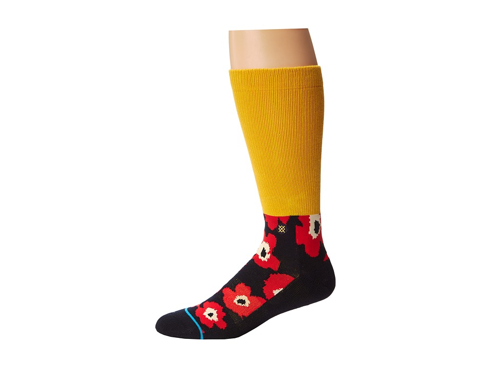 Stance - Don James (Yellow) Men's Crew Cut Socks Shoes