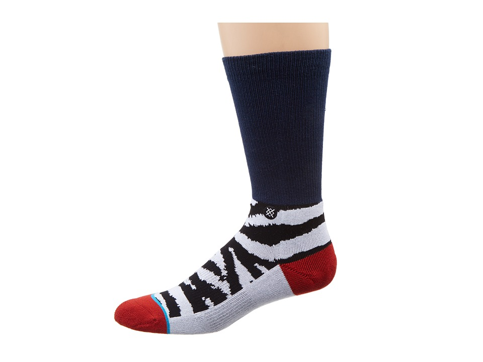 Stance - Poacher (Navy) Men's Crew Cut Socks Shoes
