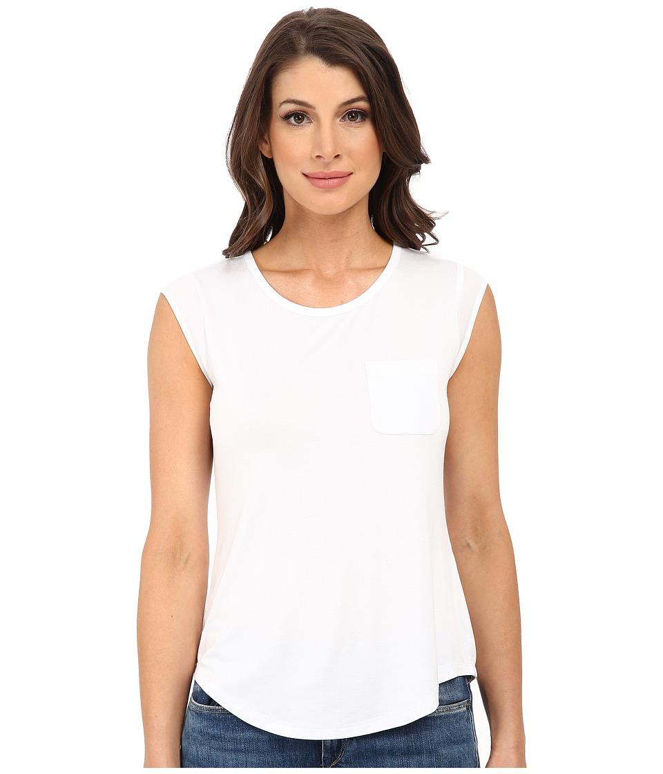Calvin Klein - T-Shirt w/ One-Pocket (White) Women's T Shirt