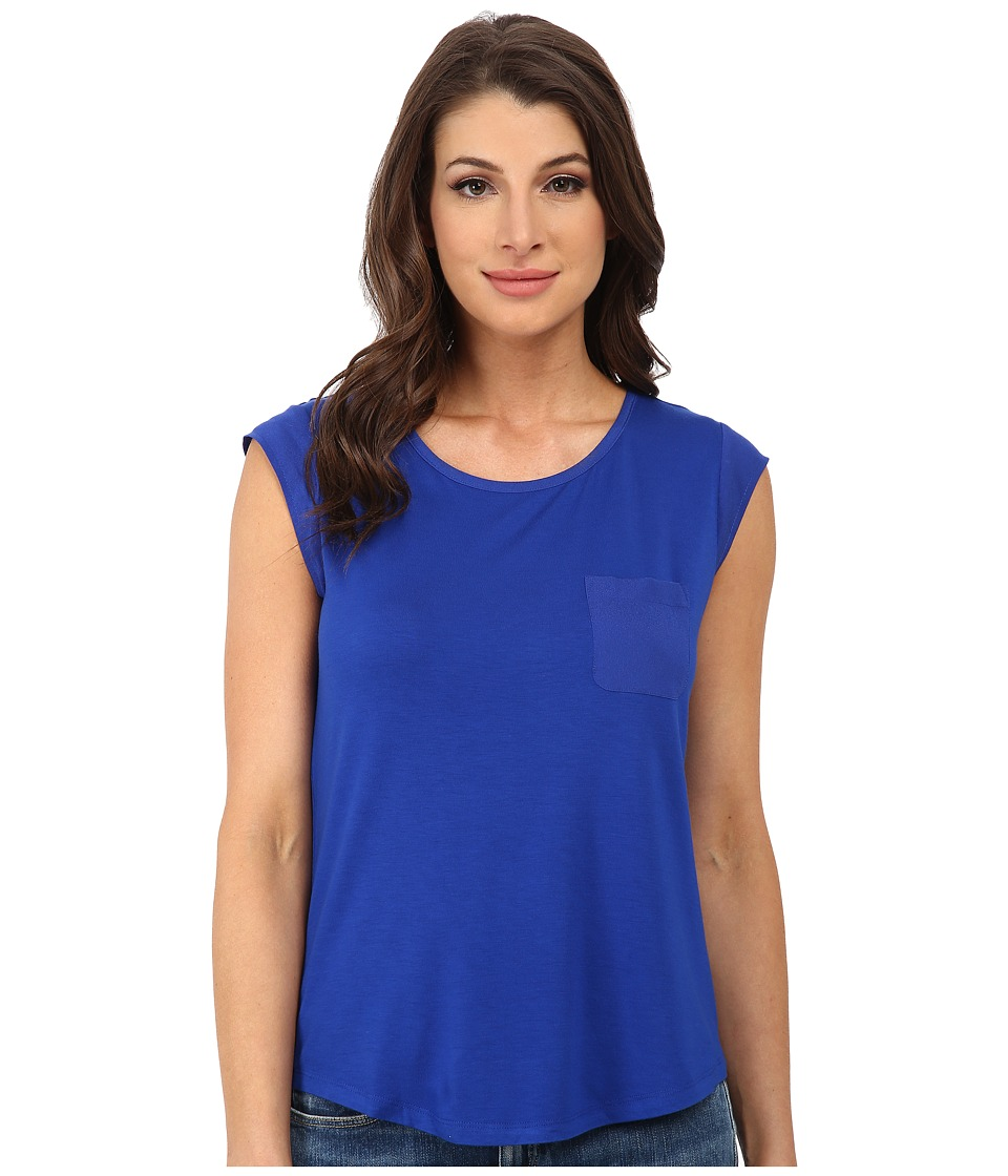 Calvin Klein - T-Shirt w/ One-Pocket (Regatta) Women's T Shirt