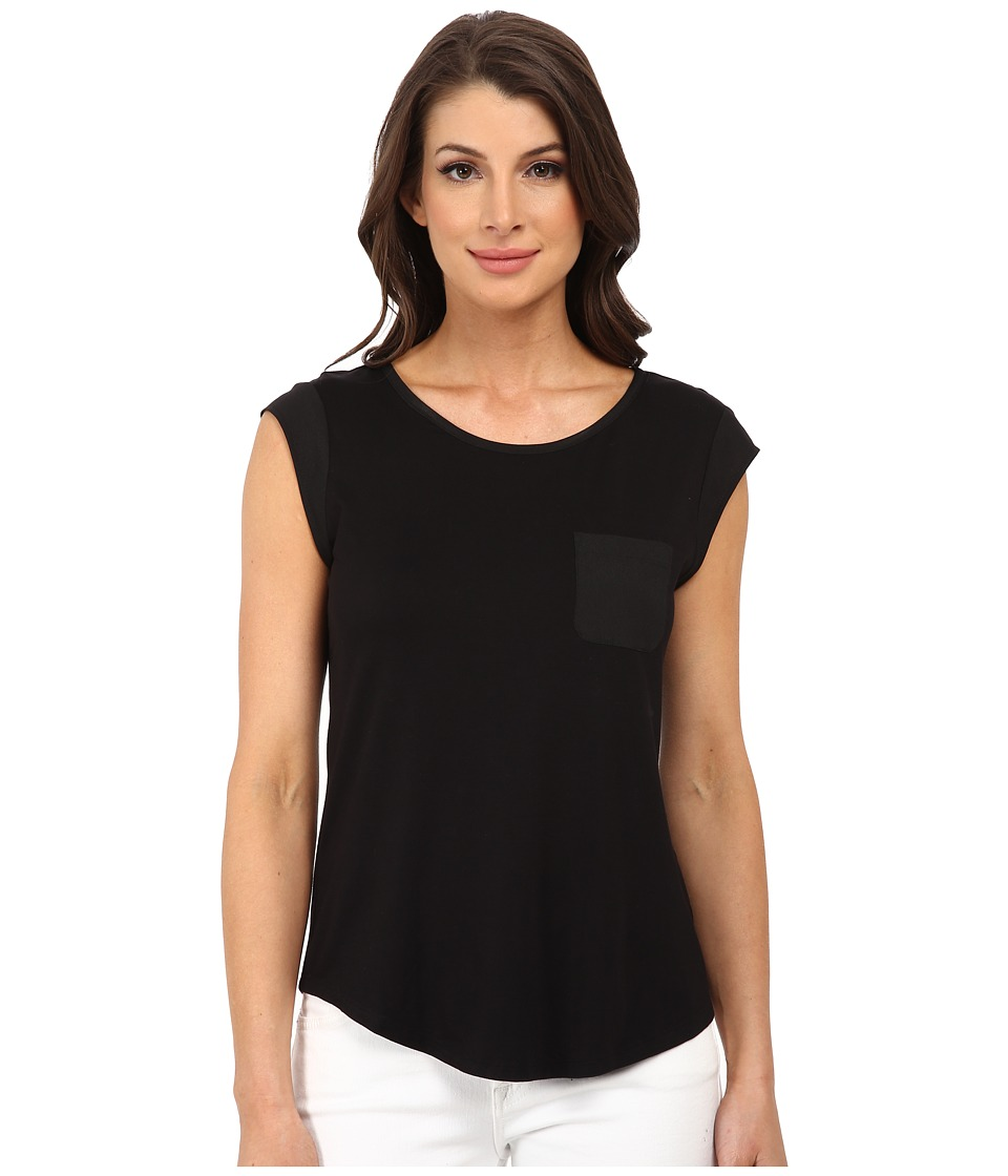 Calvin Klein - T-Shirt w/ One-Pocket (Black) Women's T Shirt