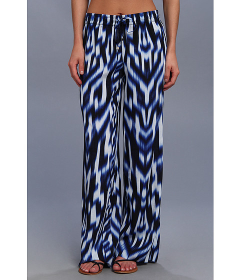Calvin Klein - Printed Drawstring Pant (Regatta/White) Women's Casual Pants