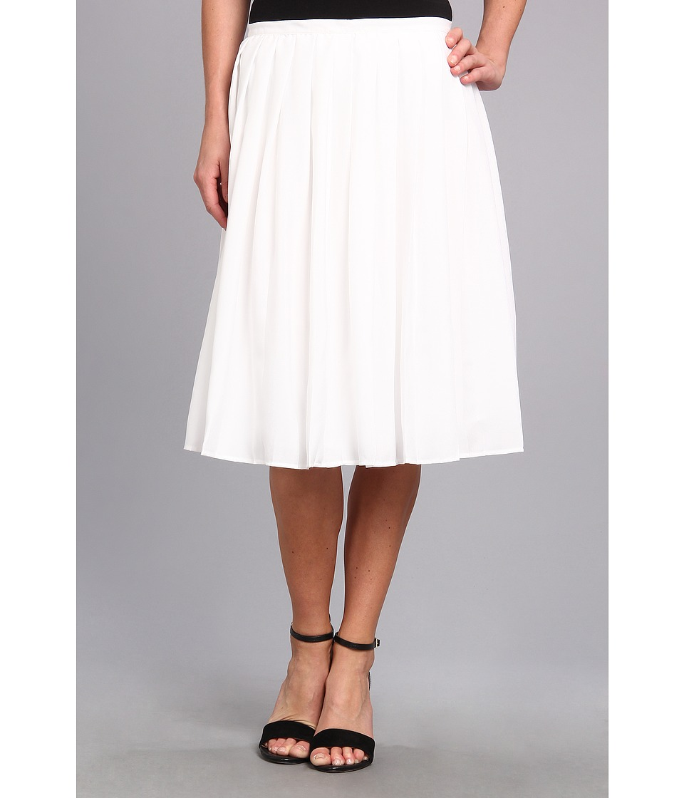 Calvin Klein - Pleated Short Skirt (White) Women