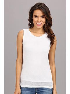 SALE! $51.99 - Save $18 on Calvin Klein Shell w Lurex (White) Apparel - 25.19% OFF $69.50