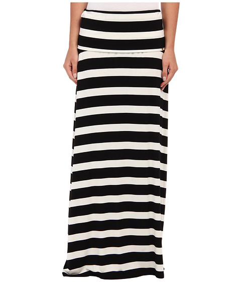 Calvin Klein - Thick Stripe Maxi Skirt (Black/White F) Women's Skirt