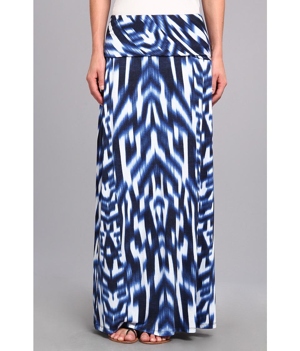 Calvin Klein - Print Maxi Skirt (Regatta/White) Women
