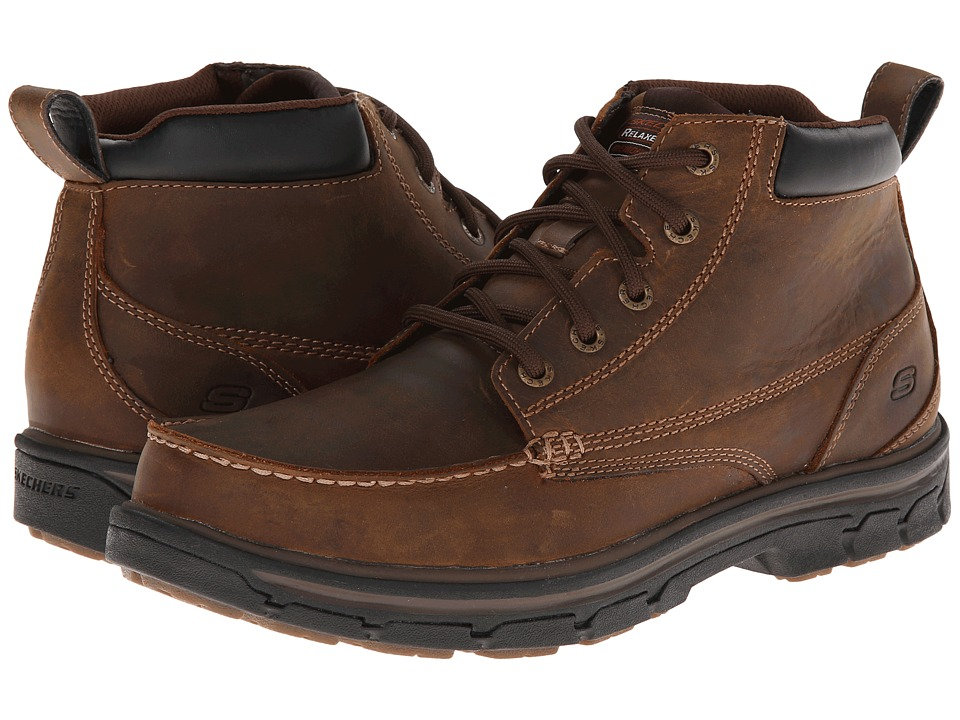 SKECHERS - Relaxed Fit Segment - Barillo (Dark Brown) Men's Shoes