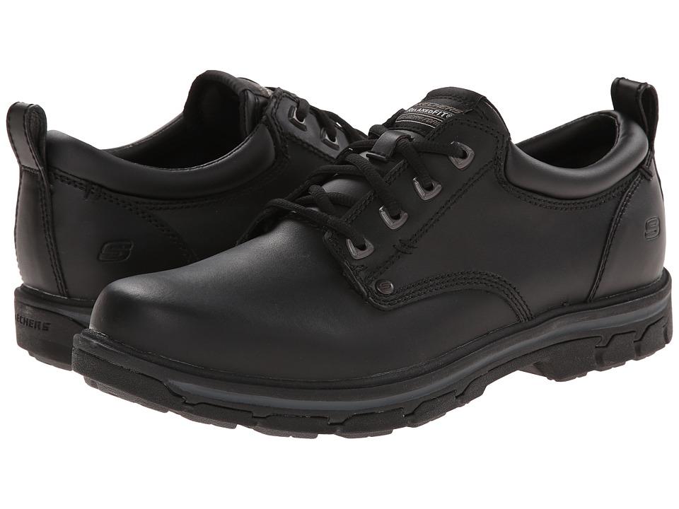 SKECHERS Segment Relaxed Fit Oxford (Black) Men