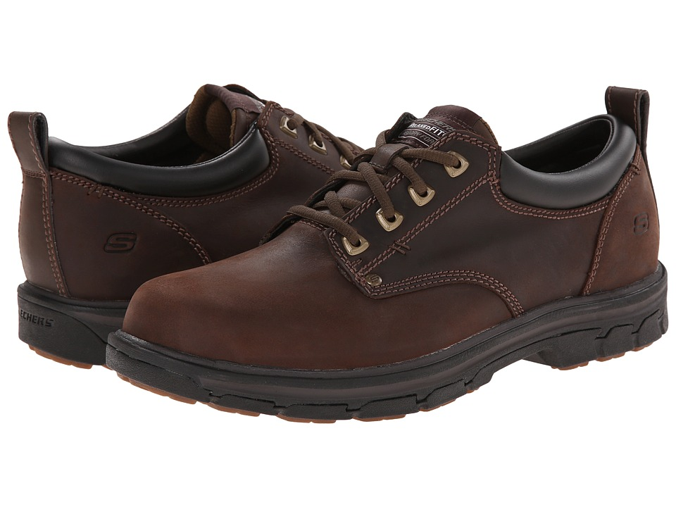 SKECHERS Segment Relaxed Fit Oxford Brown Mens Shoes