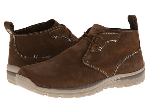 SKECHERS - Superior Relaxed Fit Chukka (Desert Brown) Men's Shoes