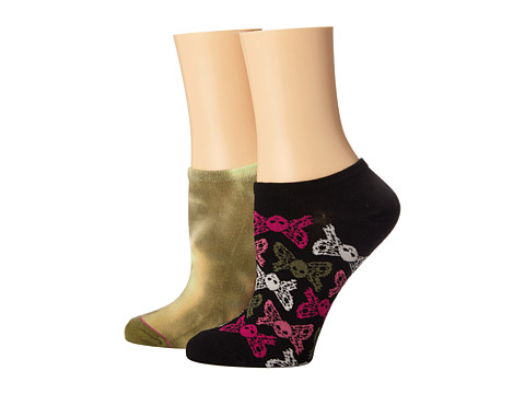 Betsey Johnson - Tie Dye 2 Pack No Show (Green) Women's No Show Socks Shoes