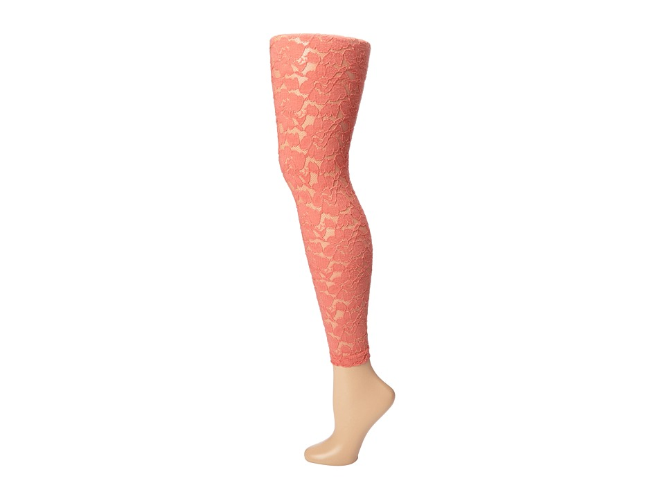 Betsey Johnson - Girly Lace Legging (Peach) Hose
